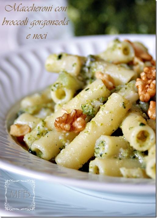 maccheroni broccoli gorgonzola e noci 016