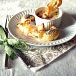 Mazzancolle croccanti con vellutata di patate speziata