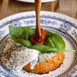 Budino salato alla parmigiana di melanzane scomposta