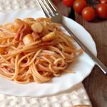 Spaghetti asparagi, pancetta e pomodorini