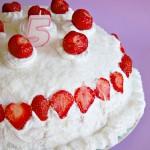 Torta gelato fragola e fior di latte senza gelatiera