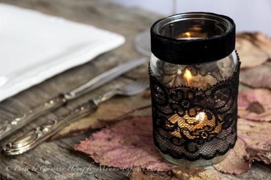 Halloween Kerzen DIY - schoenstricken.de