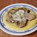 Polenta morbida con porcini freschi e asiago