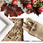La tavola d'autunno country chic