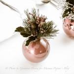 Decorazioni per la tavola di Natale con tutorial