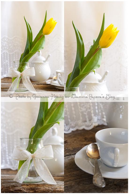 Il riciclo che rende bella la tavola di primavera mamma papera - Tavola di primavera idee ...