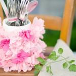 Tutorial: portaposate con petali e riciclo del vetro