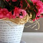 Vaso di coccio decorato fai da te