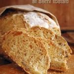 Pane rustico di kamut e farro integrale ai semi tostati