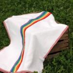 Accappatoio poncho per bambini con arcobaleno