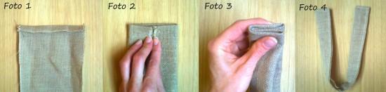 cucire manici borsa