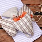 Cuori di stoffa imbottiti: tutorial