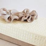 Scatola paillettes e tessuto