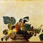 Le nature morte-Canestra di frutta di Caravaggio