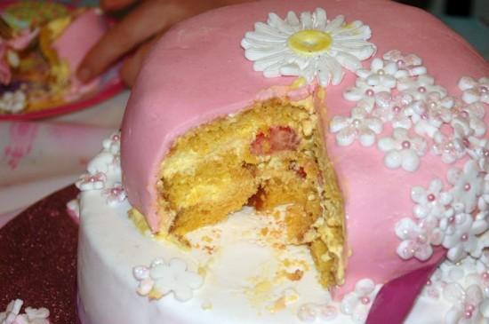 interno torta di compleanno