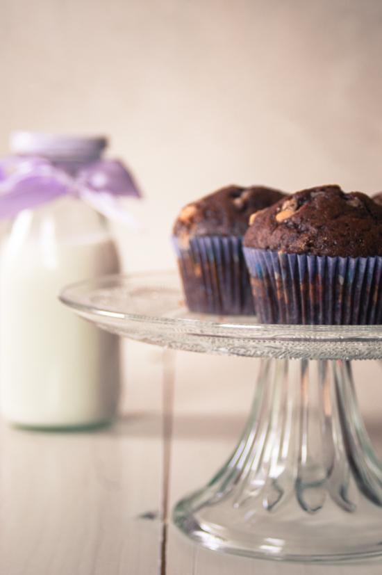 muffin al cacao e arancia