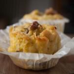 Muffin di kamut con radicchio asiago e noci