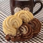 Biscotti bicolore cacao e panna (abbracci)