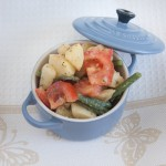 Insalata di fagiolini, pomodori e patate lesse
