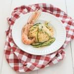 Fettuccine zucchine e scampi