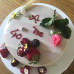Bavarese alla ciliegia e cioccolato bianco