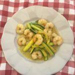 Gamberi e zucchine al curry